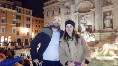 Jozef Palkovič and Lucia Galková, Slovak University of Agriculture, at the Trevi Fountain in Rome