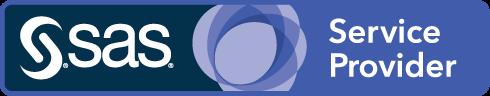 SAS Service Provider badge art, horizontal format, midnight background