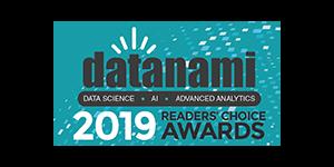 Datanami 2019 Readers Choice Award