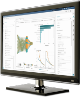 SAS Visual Data Mining and Machine Learning shown on desktop monitor