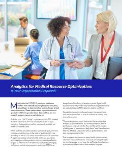 Analytics for Medical Resource Optimization