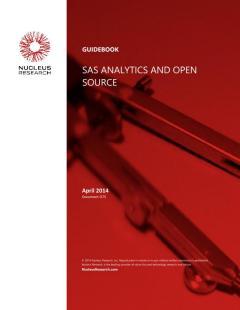 SAS Analytics and Open Source