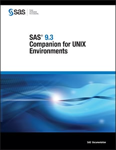 SAS® 9.3 Companion for UNIX Environments