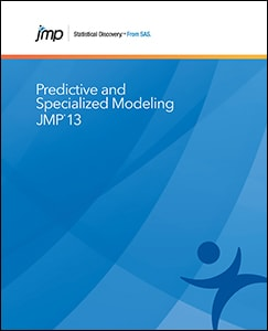 JMP® 13 Predictive and Specialized Modeling