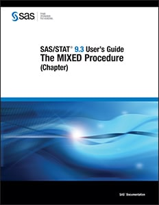 SAS/STAT® 9.3 User's Guide: The MIXED Procedure (Chapter)