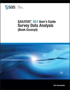 SAS/STAT® 12.1 User's Guide: Survey Data Analysis (Book Excerpt)