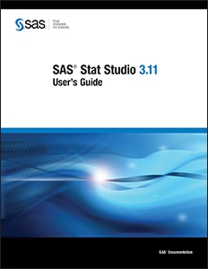 SAS® Stat Studio 3.11: User's Guide