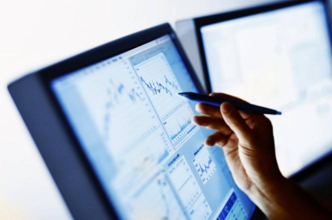 Pointing at graph data on monitors
