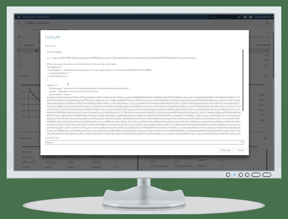 Visual Data Mining and Machine Learning แสดงการพล็อตเส้นกราฟ ROC โดยใช้โปรแกรม Python เพื่อประเมินผลการพยากรณ์