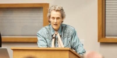 Temple Grandin speaking at a STEM event