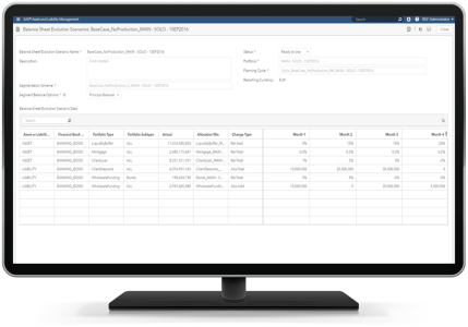 SAS Asset and Liability Management on desktop monitor