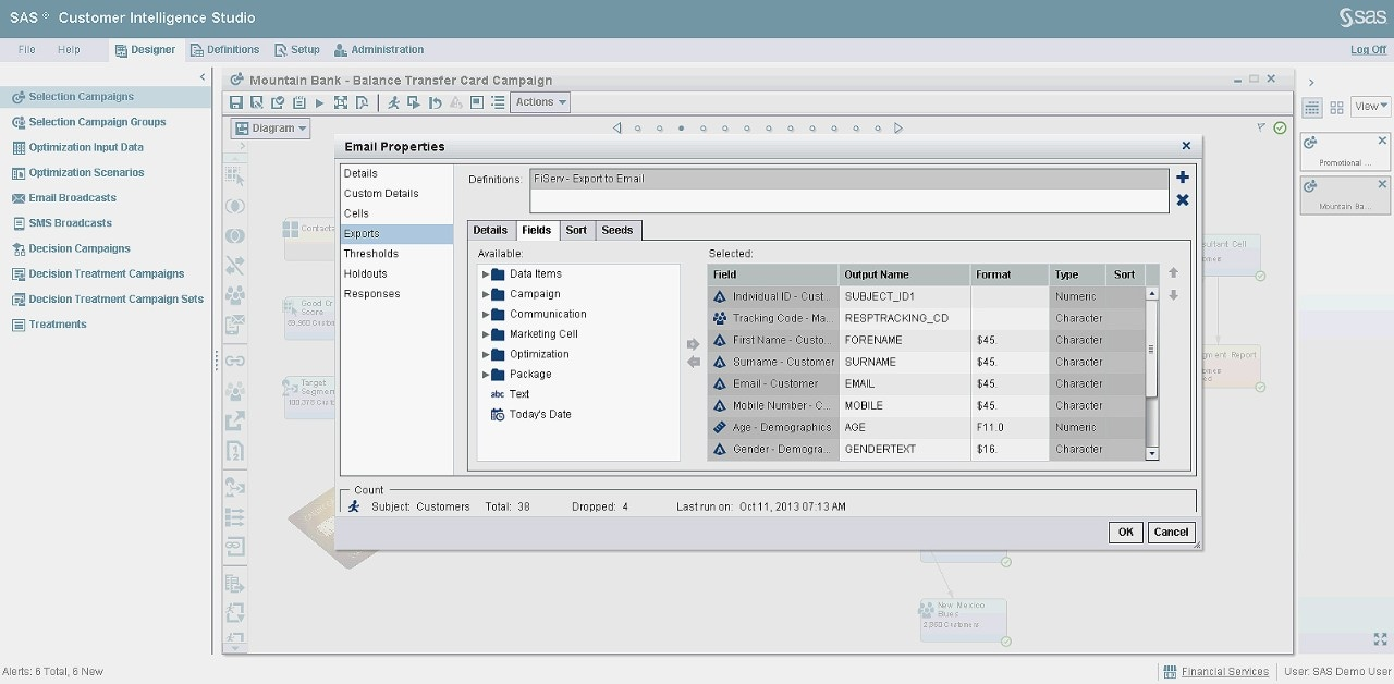 Marketing Automation software screenshot shows quick easy access to selected campaign nodes