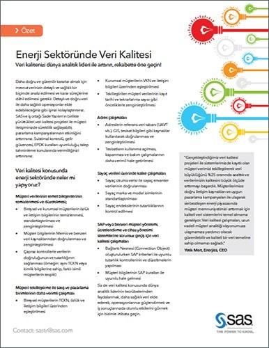 Enerji Sektöründe Veri Kalitesi
