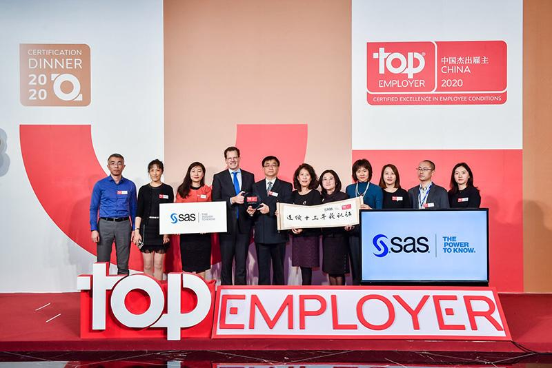 SAS as the Top Employer in China of 2020