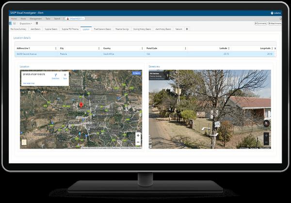 SAS Continuous Monitoring for Procurement Integrity - alert location