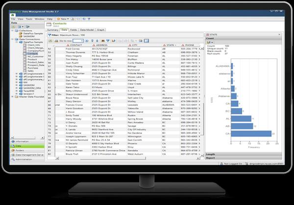 SAS® Data Management - Data tab