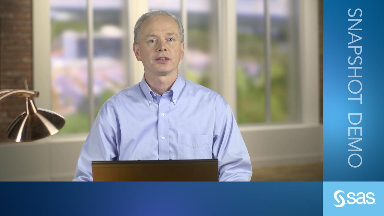 SAS Decision Manager Snapshot Demo