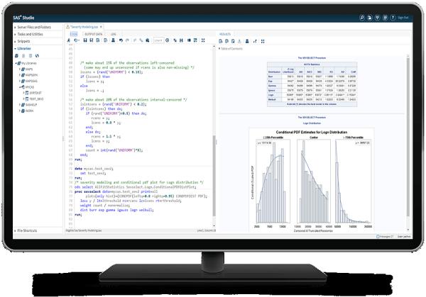 SAS® Econometrics - severity plots all stats