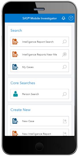 SAS 移动调查在智能手机上显示主页