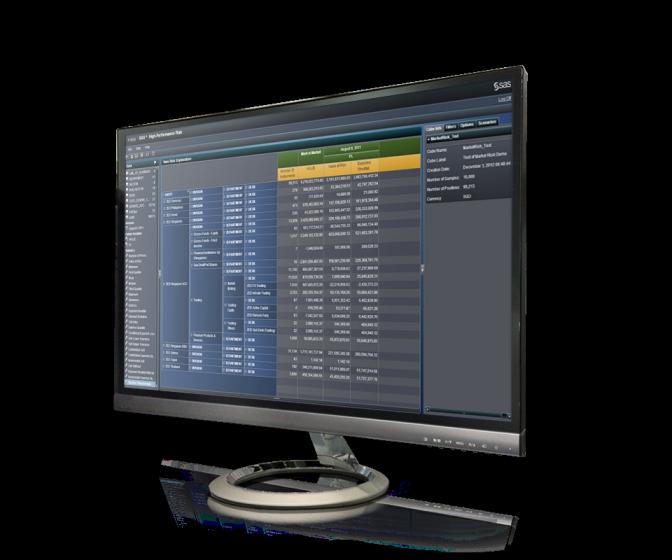 桌面监视器上显示 SAS 高性能风险