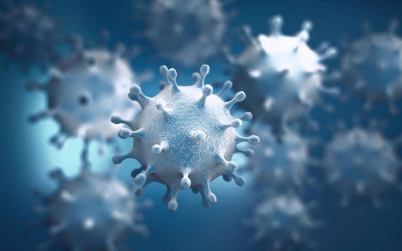 coronavirus structure 3D rendering