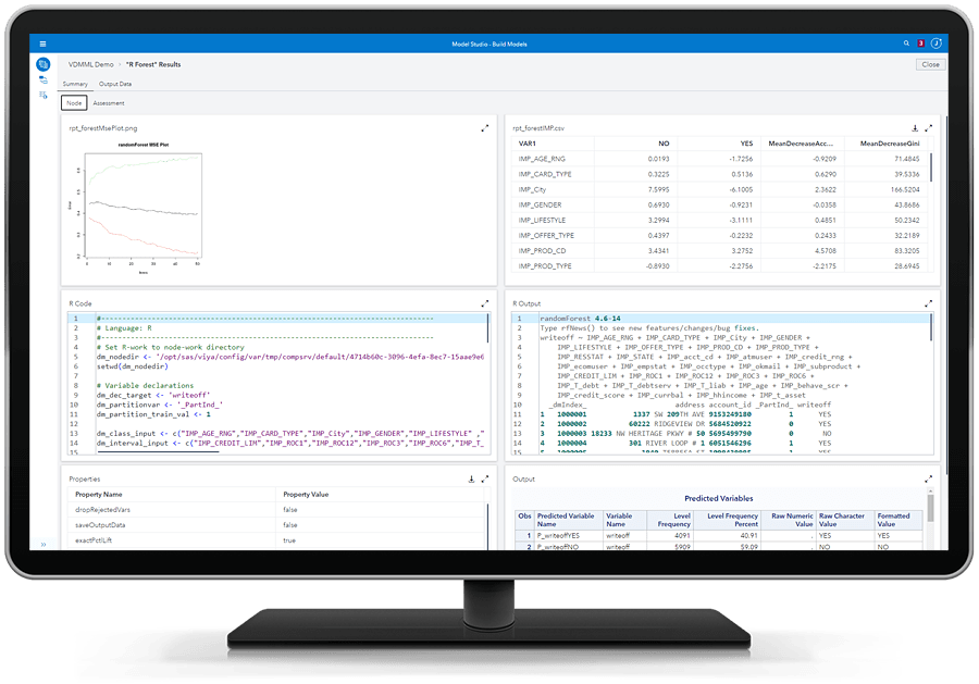 SAS Visual Data Mining and Machine Learning - open source