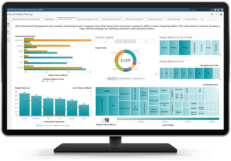 SAS Financial Planning shown on desktop monitor