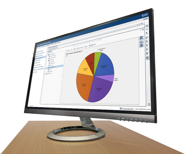 SAS Marketing Optimization shown on desktop monitor