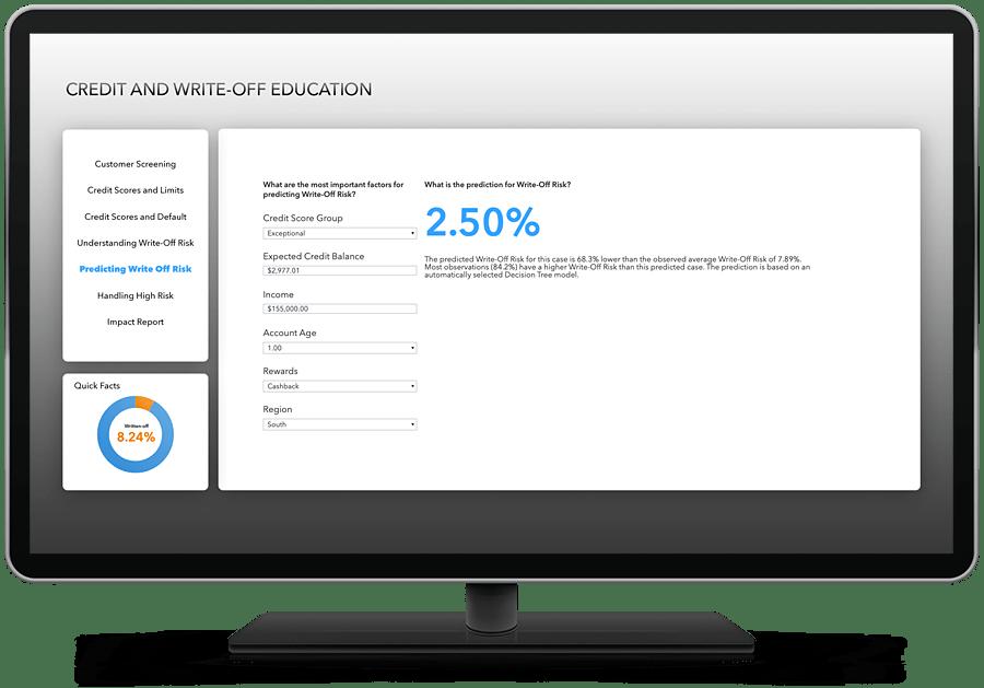 SAS Visual Analytics - embedded prediction